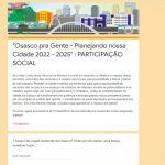 Prefeitura abre consulta pública para PPA 2022-2025